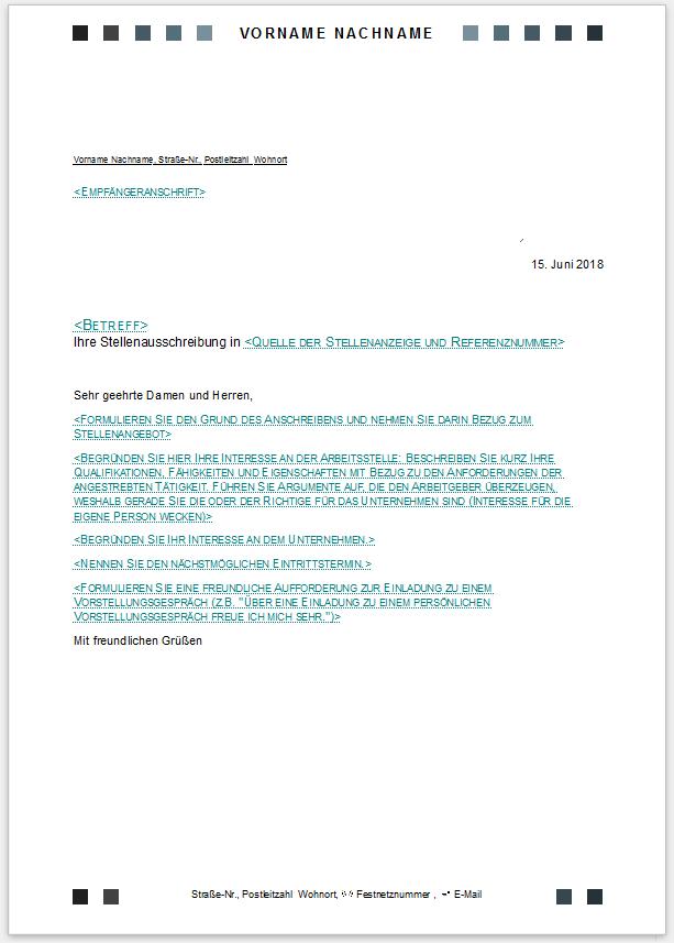 Bewerbungsvorlagen Für Libreoffice